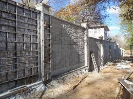 Méretes betonkerítés