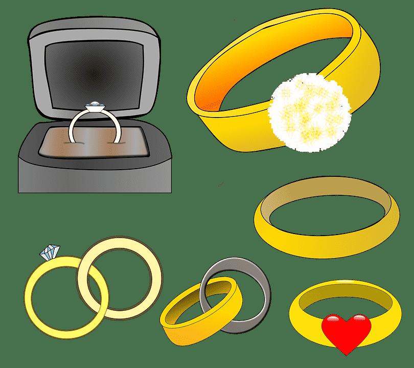 karikagyűrű fehérarany